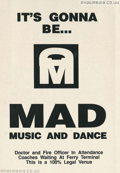 Mad music and dance 1989 early rave flyers for Dance music 1989