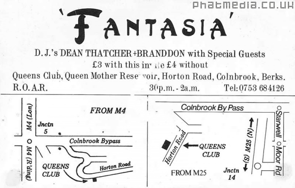 Fantasia 1989 - Early Rave Flyers