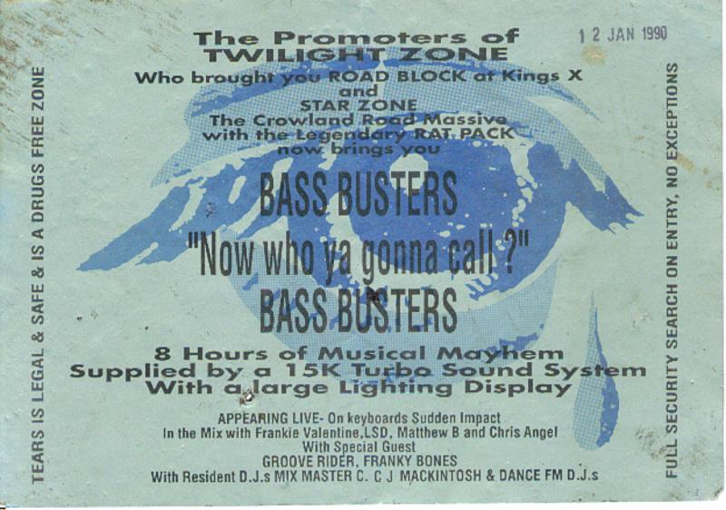 Bass Busters - Early Rave Flyers