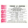 Yikes & Power Present Rush 1992 February Image 2