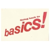 Going Back To Basics Image 1