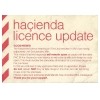 Hacienda 1990 / July Licence Update